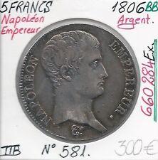 5 FRANCS NAPOLEON EMPEREUR - 1806BB (660 284 Ex) Pièce en Argent // Qualité: TTB