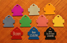 "Custom Engraved DOUBLE SIDED Tag Pet ID  FIRE HYDRANT  DOG CAT ""PREMIUM QUALITY"""