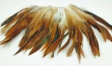 "50+ NATURAL RED FURNACE ROOSTER CRAFT HAIR SADDLE FEATHERS 5""-7""L"