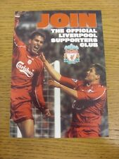 circa 2000 Liverpool: Official Supporters Club Advertising Leaflet, Four Pages,