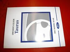2001 FORD TAURUS FACTORY OWNERS MANUAL OPERATORS GUIDE