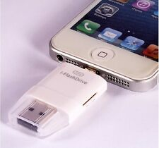 USB i-Flash Drive TF SD Card Reader for Ipad 4 5 6 MiNi 2 3 Air 2 iPod Touch 5