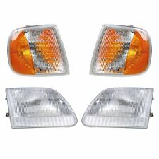 1997 - 2003 FORD F-150 TRUCK HEAD LAMP & CORNER LAMP LIGHT PAIR RIGHT & LEFT SET