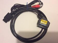 Super Nintendo SNES RGB SCART lead SHIELDED, GROUNDED, with RCA audio cable cord