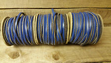 cow hide 1/8 wide 50' long/base ball lace blue color/ SALE !!!