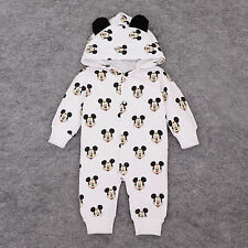 Toddler Kids Baby Boy Infant Mickey Jumpsuit Romper Outfit Clothes Bodysuit Top