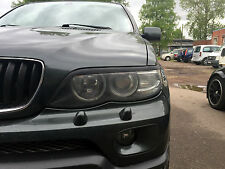 BMW x5 e53 04-07 eyebrows headlight spoiler lightbrows eye lids brows covers is