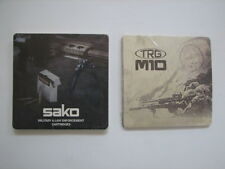 8 SAKO TRG M10 Military Law Enforcement Ammo Drink Coasters Targets Tactical LE