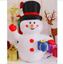 1.2M New Inflatable Snowman Christmas Decoration Outdoor Yard Decor Light Up