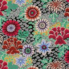 Kaffe Fassett Dream Floral Cotton Fabric PWGP148 Grey Fall 2014 Collection BTY