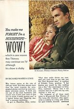 1966 TV ARTICLE~ROY THINNES & NANCY MALONE in THE LONG HOT SUMMER~INVADERS