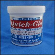 QUICK GLO FINE POLISH CHROME CLEANER RUST REMOVER BIKES BOATS CARS CYCLES NEW