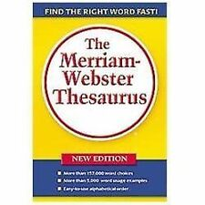 NEW ~ Merriam Webster Thesaurus New Edition 2005 ~ FREE SHIPPING Paperback