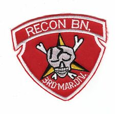 3rd Marine Div/Recon Bn BC Patch Cat No M0527