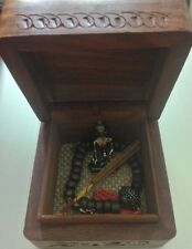 Lucky Brand❥Buddha Meditation Set❥Collectible Wood Box❥Charm Bracelet❥Rare VHTFॐ