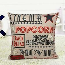 Letters Pattern Cotton Linen Throw Pillow Case Cushion Cover Home Sofa Car Decor