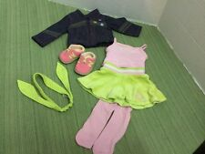 """American Girl 18""""Doll Clothes Lot 7pcs Denim Stitched Jacket Shoes & outfit MINT"""
