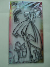 DYLUSIONS BY RANGER CLEAR STAMP NIGHT AT THE OPERA NEW! *LOOK*