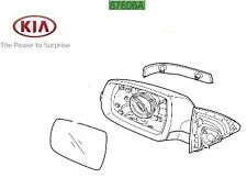 Genuine Kia Sorento 2013-2015 Complete Mirror Assembly - RH Driver 876202P720