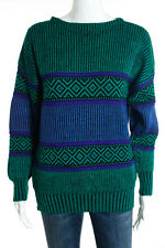 Album By Kenzo Multi-Colored Wool Ribbed Thick Knit Long Sleeve Sweater Size Med