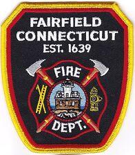 Fairfield Fire Dept. Firefighter Patch Connecticut  NEW!!