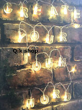 20 LED Alphabet String Lights Create Your Own Message 54 Clear Letters Include