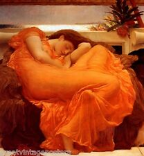FLAMING JUNE PAINTING BY SIR FREDERIC LEIGHTON ON CANVAS REPRO LARGE