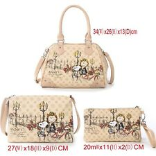 A set of three  pieces /authentic/peanut snoopy handbag inclined shoulder bag//