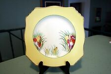 Royal Winton Grimwades Yellow Crocus Gold Trim Square Luncheon Plate RARE!