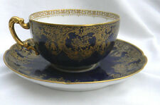 Limoges Colbalt Blue Gold Gilt Haviland Co. Cha Mayer Indianapolis Cup & Saucer
