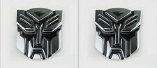 Set of 2 3D Logo Transformers Autobots Optimus Prime Self Adhesive Car Emblem 4""