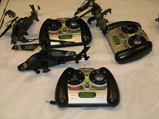 3 Ignite apache helicopters used 2 work great one good for parts excellent cnd