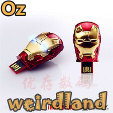 Metal Mask Iron Man USB Stick, 8GB Waterproof USB Flash Drives WeirdLand