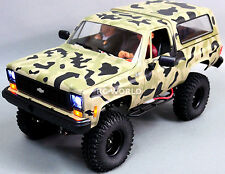 1/10 Radio Control CUSTOM All Metal CHEVY BLAZER K5 RC Truck 2-SPEED 4WD CAMO