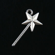 50pcs Tibetan Silver Fairy wand Pendants Charms for Jewelry Making