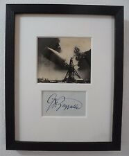 Count Ferdinand von Zeppelin Autograph & Antique Photo of Air Disaster New York