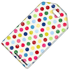 Stray Decor (Polka Dots (Rainbow)) Luggage Tag / Travel ID Label
