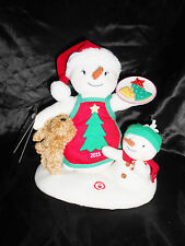 2015 Hallmark Plush Time For Cookies Snowman Family & Rex Sound & Motion NWT