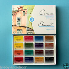 WATERCOLOR ARTISTS PAINT SONNET Set 16 сolours in pans Russian Nevskaya palitra