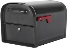 New Oasis Locking Mailbox 11.2-in x 11.4-in Metal Lockable Post Mount Mail Box