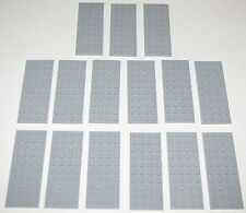 LEGO LOT OF 15 NEW 4 X 10 LIGHT BLUISH GREY PLATES BUILDING BLOCKS PIECES
