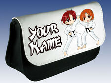 KARATE KUNG FU PERSONALISED PENCIL CASE/ DS CARRIER/ MAKE UP BAG-KIDS NAMED GIFT
