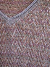 Tricots St Raphael Mens Sweater V Neck Brown Multi XXL