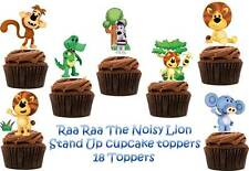 Raa Raa the Noisy Lion Edible Wafer Card Stand up Cake toppers x 18