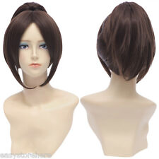 Natural Straight Central Parting Brown Wigs with Ponytail for Attack on Titan