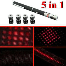 5 in 1 Military Red Laser Puntero 1MW 630nm Visible Light Red Beam Laser Pen 1PC