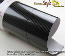 5D Gloss Ultra Shining【BLACK 750mm x 1000mm】Carbon Fibre Vinyl Wrap Sticker