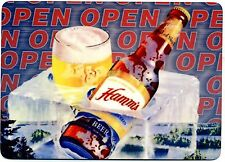 Hamm's Beer METAL counter display sign - Vintage  Design - Beer on Ice OPEN Sign