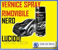 NEW! VERNICE PELLICOLA SPRAY NERO LUCIDO RIMOVIBILE PER BICI CERCHI INTERNI AUTO