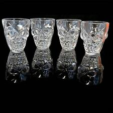 Halloween Claer Shot Glasses with Spooky 3D Skull Shape - 4 pcs